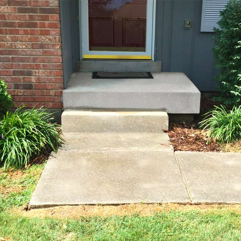 Concrete Steps Leveling - After