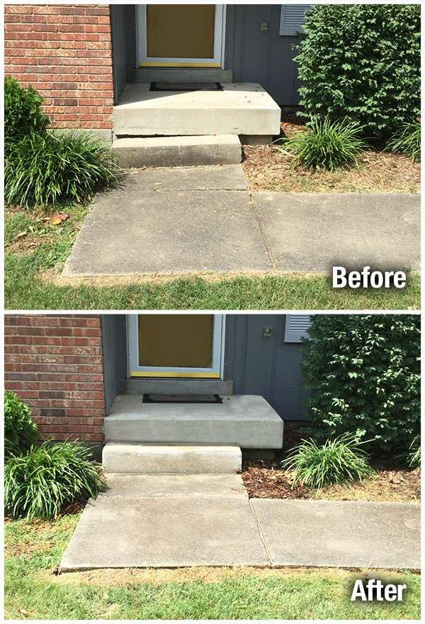 A-1 Concrete Leveling Wichita Step Repair Before and After