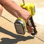 Driveway Crack Repair Caulking Image