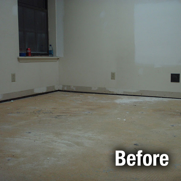 A-1 Concrete Leveling Floor Repair - Before