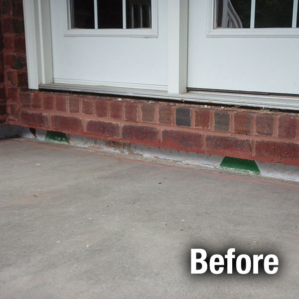Concrete Porch Leveling - Before