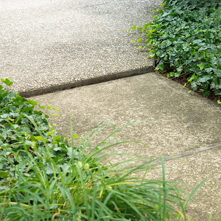 Louisville Concrete Sidewalk Leveling - Before