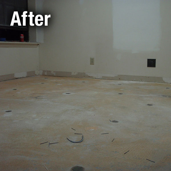 A-1 Concrete Leveling Floor Repair - After
