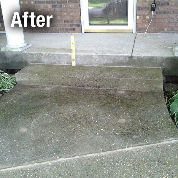 Concrete Steps Leveling After