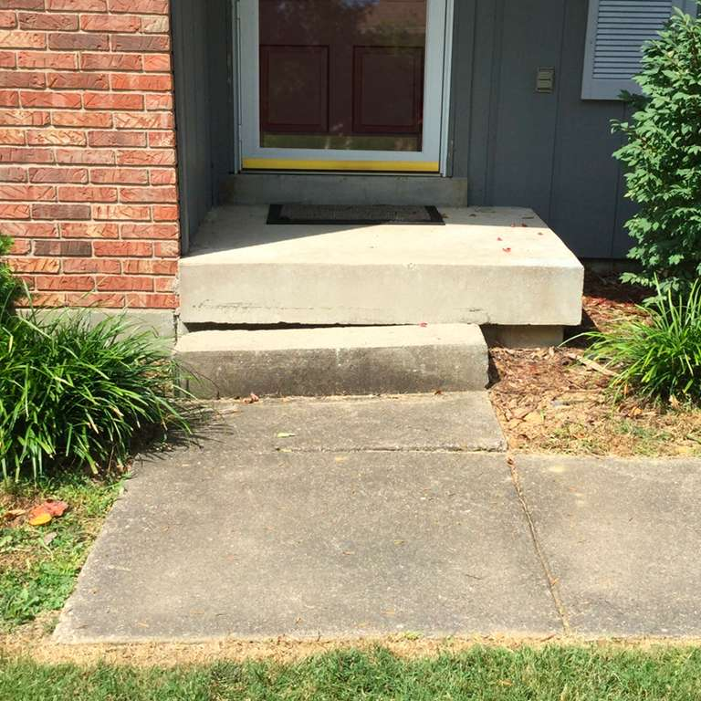 Concrete Steps Leveling - Before