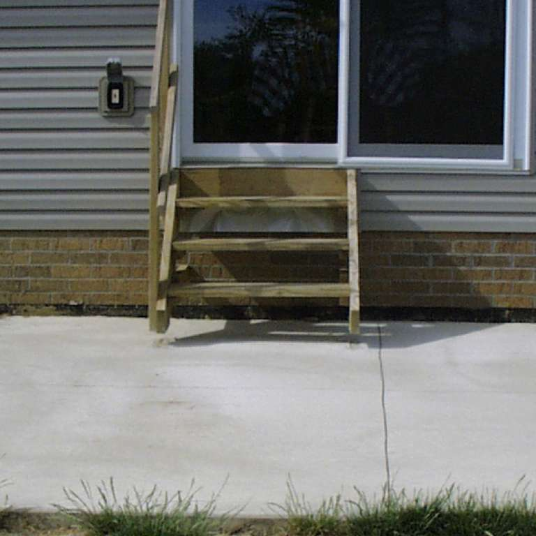 Concrete Patio Leveling - Before