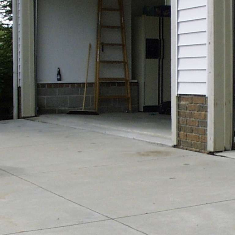 Concrete Driveway Leveling - After