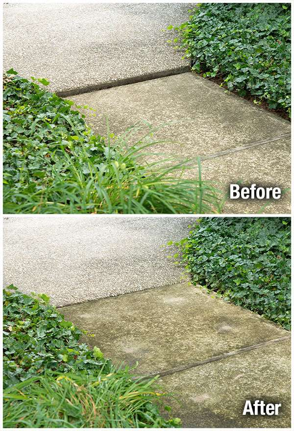 Concrete Sidewalk Leveling Before and After