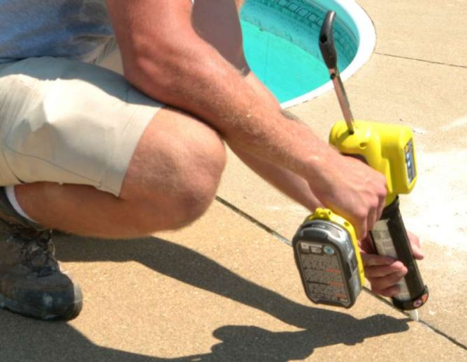 Concrete Crack & Joint Caulking